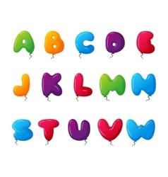 Balloon alphabet set vector image vector image
