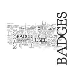 Benefits of id badges text word cloud concept vector
