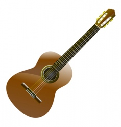 classic guitar vector image vector image