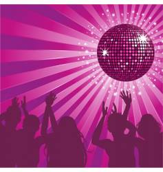 disco ball party vector image