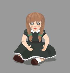 doll on dark background eps 10 vector image