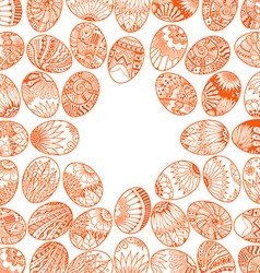 eggbackground pattern vector image
