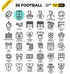 Football Soccer Icons vector image vector image