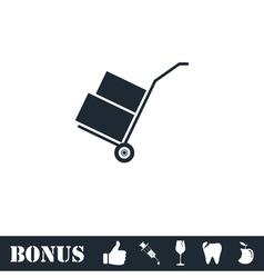 Handcart icon flat vector image