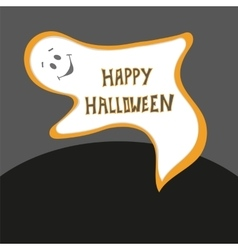 Happy Halloween card Scary ghost poster with vector image