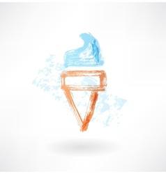Ice-cream grunge icon vector