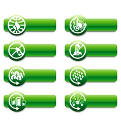 keep earth green banners vector image vector image