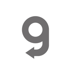 Letter G Logo Concept Icon vector image