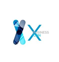 Minimal X font or letter logo design vector image