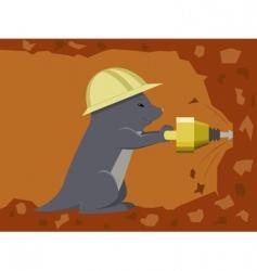 Mole labourer vector