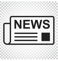 Newspaper flat icon news symbol logo business vector