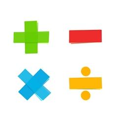 Plus minus multiply divide mathematical symbols vector