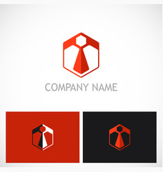 polygon business company logo vector image vector image