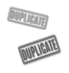 Rectangular stamp duplicate vector