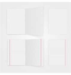 Set of notepaper sheets with shadow isolated on vector