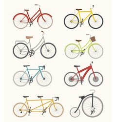 Set of retro bicycle vector