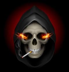 smoking kills Skull death 02 vector image