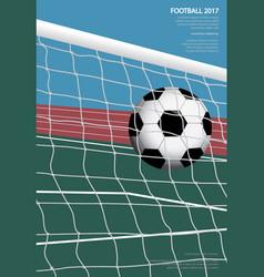 soccer football poster vestor vector image vector image