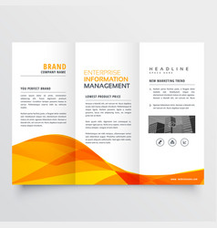 Tri fold brochure design corporate business vector