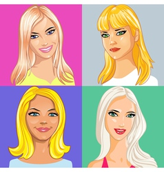 Young beautiful blonde vector