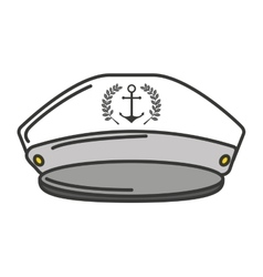 captain sailor anchor hat vector image