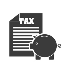 Tax receipt document icon vector