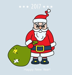 Christmas Santa Claus with gift vector image