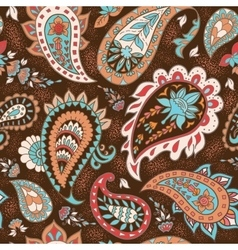 Seamless Abstract Floral Pattern with Paisley vector image