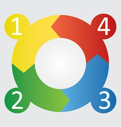 Four step round diagram vector
