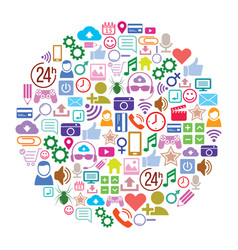 social media background of the icons layout vector image