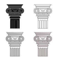 Column icon in cartoon style isolated on white vector