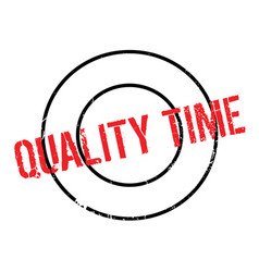 quality time rubber stamp vector image