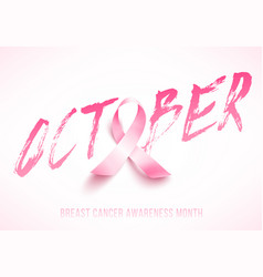 Breast cancer card vector