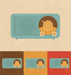 Retro icons - old radio vector