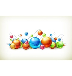 Molecules and atoms vector image