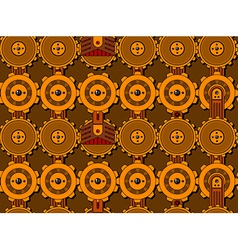 Seamless cogwheel pattern vector