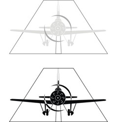 monoplane on airport vector image
