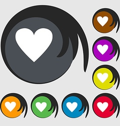 Heart sign icon love symbol symbols on eight vector