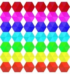 Colorful geometric seamless pattern rainbow colors vector