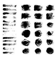 Black grunge brushes vector