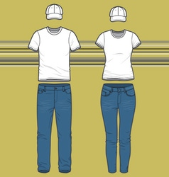 T-shirt and jeans set vector