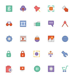 Design and development icons 4 vector