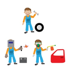 The repair of the car The car service vector image
