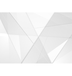 Abstract tech low poly grey background vector image