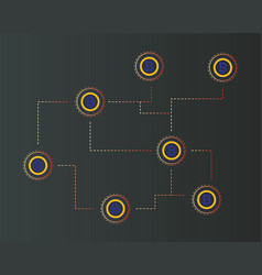 bitcoin gold cryptocurrency virtual concept vector image