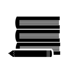 Books and pencil icon vector image