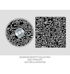 Business identity collection Black and white vector image
