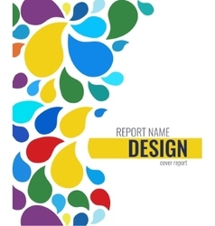 Color cover design with drops vector