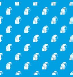 Egyptian girl pattern seamless blue vector