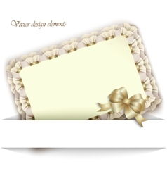 Elegant card for your invitations and greetings vector